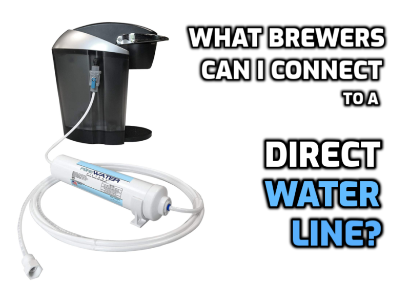 brewers connect direct water line plumb