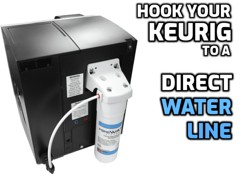 direct water line keurig brewer instructions