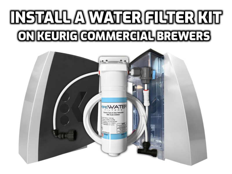 install water line filter kit keurig brewers