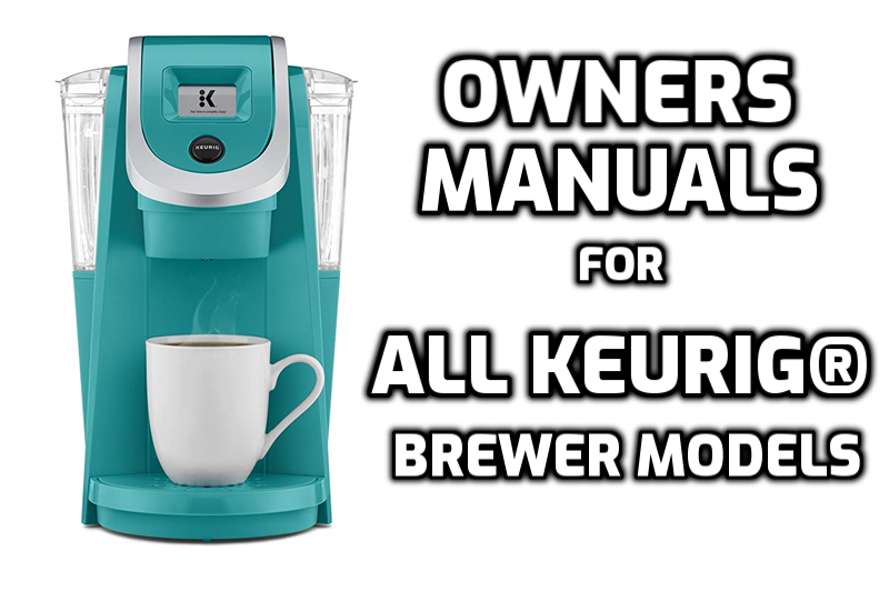 owner manual for keurig brewer models